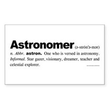 Astronomer Rectangle Decal