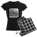 Black Bear Family Women's Dark Pajamas