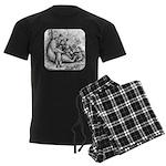 Black Bear Family Men's Dark Pajamas