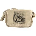 Black Bear Family Messenger Bag