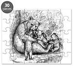 Black Bear Family Puzzle