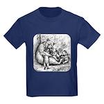 Black Bear Family Kids Dark T-Shirt
