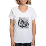 Black Bear Family Women's V-Neck T-Shirt