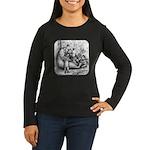 Black Bear Family Women's Long Sleeve Dark T-Shirt