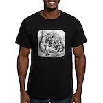 Black Bear Family Men's Fitted T-Shirt (dark)