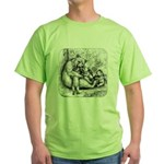 Black Bear Family Green T-Shirt
