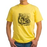 Black Bear Family Yellow T-Shirt