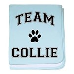 Team Collie baby blanket