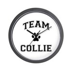 Team Collie Wall Clock