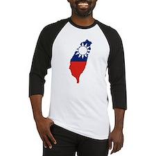 Taiwan Flag and Map Baseball Jersey