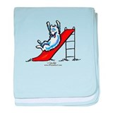 Samoyed Fun Slide baby blanket
