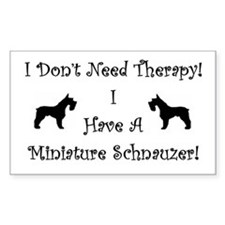 Cute Black miniature schnauzer Decal
