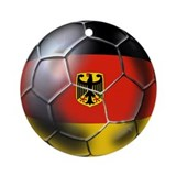German Soccer Ball Ornament (Round)