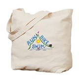 Run, Bike, Swim Tote Bag