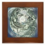 Dragon Phoenix Framed Tile