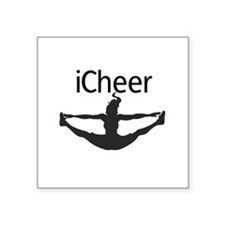 "icheer_emb.jpg Square Sticker 3"" x 3"""