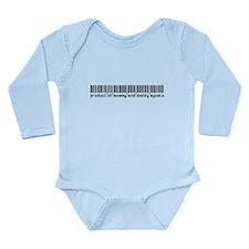Agosto, Baby Barcode, Long Sleeve Infant Bodysuit