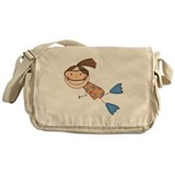 girl_swimming.jpg Messenger Bag