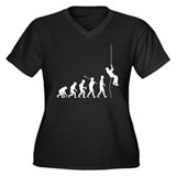Abseiling Women's Plus Size V-Neck Dark T-Shirt