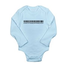 Calton, Baby Barcode, Long Sleeve Infant Bodysuit