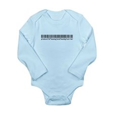 Carrier, Baby Barcode, Long Sleeve Infant Bodysuit