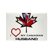 America - Canada Husband.png Rectangle Magnet
