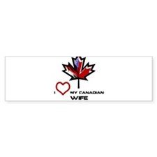 America - Canada Wife.png Bumper Sticker