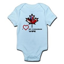 America - Canada Wife.png Infant Bodysuit