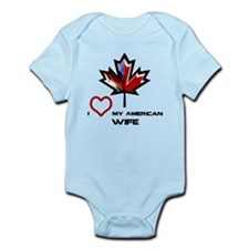 Canada-America Wife.png Infant Bodysuit