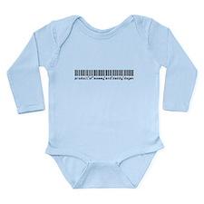 Degen, Baby Barcode, Long Sleeve Infant Bodysuit