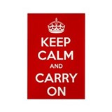 Keep Calm and Carry On Kitchen Magnet