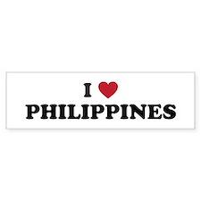 I Love Philippines Bumper Sticker