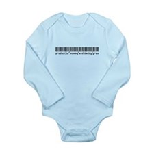 Grau, Baby Barcode, Long Sleeve Infant Bodysuit