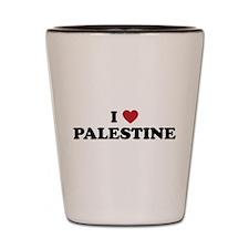 I Love Palestine Shot Glass