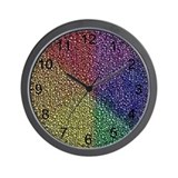 ABSTRACT RAINBOW Wall Clock