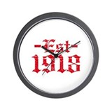 Established in 1918 Wall Clock