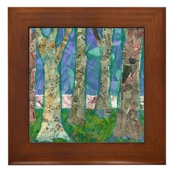 Music Amongst the Trees Framed Tile