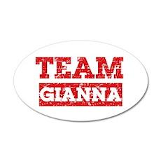 Team Gianna 35x21 Oval Wall Decal