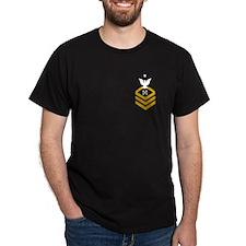 Coast Guard BMCS<BR> Black T-Shirt