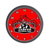 Jasper Red Bear Wall Clock