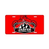 Jasper Red Bear Aluminum License Plate