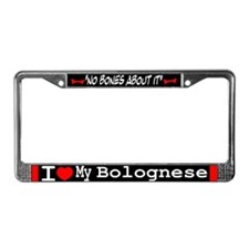 Bolognese Gifts License Plate Frame