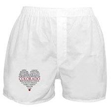 I LOVE COLORADO Boxer Shorts
