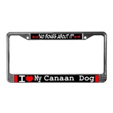 NB_Canaan Dog License Plate Frame
