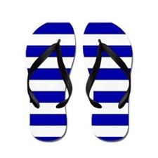 Navy Blue and White Sailor stripes Flip Flops