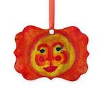 Sun Face Picture Ornament