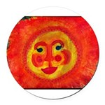Sun Face Round Car Magnet