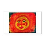 Sun Face Rectangle Car Magnet