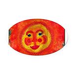 Sun Face Oval Car Magnet