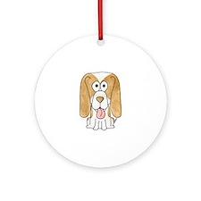 Beagle Puppy Dog. Ornament (Round)